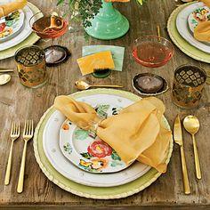 mixed materials table setting | @Calder Clark via @Southern Living