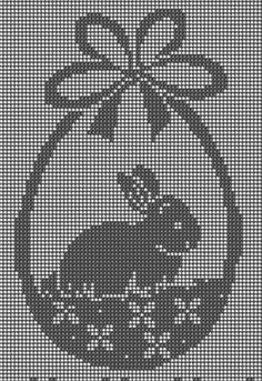 Rucni Radovi - Lilly is Love Crochet Cat Pattern, Easter Crochet Patterns, Cross Stitch Designs, Cross Stitch Patterns, Cross Stitching, Cross Stitch Embroidery, Kawaii Cross Stitch, Easter Pillows, Cross Stitch Bookmarks