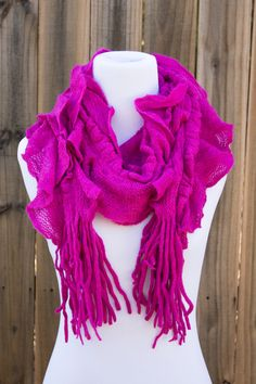 Basic Ruffle Scarf. 5 Colors Available.