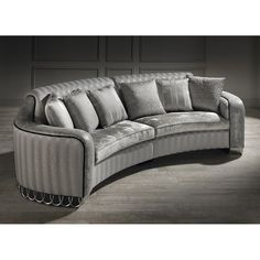 Best Riemann Curved Tufted Sectional Sofas And Loveseats 640 x 480