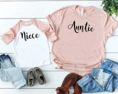 Items similar to Aunt and Niece Matching Shirts Gift for Sister Aunt Gift Auntie and Niece Girls Shirts Toddler Girl Clothing on Etsy Toddler Girl Outfits aunt Auntie Clothing Etsy gift girl Girls items Matching niece Shirts similar sister Toddler Aunt And Niece Shirts, Shirts For Girls, Matching Shirts, Matching Outfits, Aunt Baby Clothes, Niece Gifts, Toddler Girl Outfits, Trends, Girl Clothing