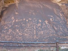 Newspaper Rock, on the way in to Canyonlands National Park/Needles section.