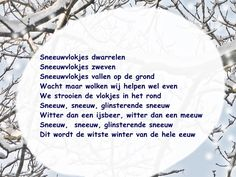 Versje over sneeuw, geschikt om uit te beelden