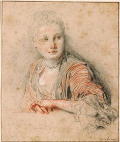 Antoine Watteau | 1684-1721 | Head and Bust of Seated Woman | The Morgan Library & Museum
