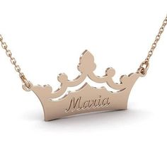 Custom Crown Name Necklace, Personalized Name Necklace, Crown Necklace, Princess Necklace, Silver Na Gold Name Necklace, Nameplate Necklace, Custom Name Necklace, Name Jewelry, Custom Jewelry, Metal Jewelry, Jewelry Rings, Jewelery, Letter Pendants