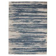 "Diagona Designs Contemporary Stripes Design Modern 8' by 10' Area Rug, 7'10"" W x 9'10"" L Ivory / Navy / Teal Image 3 of 3"