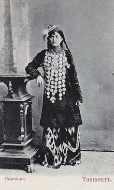superban sells an item at a starting price of until Monday, 22 October 2012 at EEST in the Uzbekistan category on Delcampe Cultures Du Monde, World Cultures, Historical Clothing, Historical Photos, Deco Boheme Chic, Folk Costume, Costumes, Ethnic Dress, Central Asia