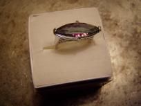 Gorgeous Silver Rainbow Topaz Ring, Size 7.5, New In Box