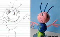 How sweet would it be to have a stuffed version of your child's favorite drawing? You know, the one that you see every time you go to the fridge, with the lopsided smile and one giant eye. Bringing a Child's Drawing to Life — One mother turns her love of children's drawing into handcrafted art. http://ht.ly/g6HyC