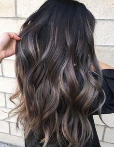 The balayage brunette Hairstyles for the season! Hope they can inspire you and r… - All For Hair Color Balayage Hair Color 2018, Cool Hair Color, Hair Color Ideas For Dark Hair, Dark Hair Colours, Winter Hair Colors, Hair Color For Dark Skin Tone, 2018 Color, Dark Hair Ideas For Winter, Hair Color And Cuts