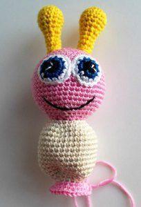 Amigurumi butterfly baby rattle - crochet pattern - body