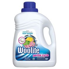 Woolite - Gentle Cycle Liquid Laundry Detergent for HE and Regular Machines, Sparkling Falls Scent, 50 oz, $8.79, target.com