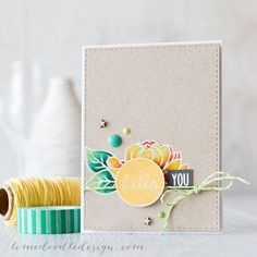 Pencils on kraft card go so well together! Card by Debby Hughes, on limedoodledesign.com.  I love it!