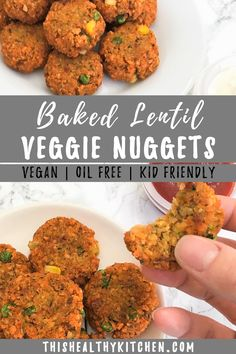 Are you looking for healthy kid friendly recipes? Learn how to make this easy, baked veggie nuggets recipe that you and Vegetarian Nuggets, Veggie Nuggets, Vegetarian Kids, Baby Food Recipes, Healthy Recipes, Healthy Kid Friendly Recipes, Healthy Foods, Baby Recipes, Vegan Lentil Recipes