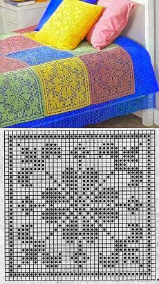 Crochet afghans 489414684489626009 - SFR Mail Source by hlneperfettini Filet Crochet Charts, Crochet Motifs, Crochet Blocks, Crochet Diagram, Crochet Squares, Thread Crochet, Crochet Blanket Patterns, Crochet Doilies, Crochet Afghans