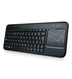 Logitech K400 wireless keyboard + trackpad combo - seems great for 'couch-computing' for your media PC on your big-screen TV
