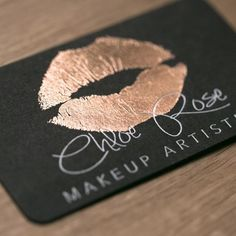 30 best rose gold business cards images on pinterest foil business kiss print in rose gold perfect business cards for a make up artist colourmoves