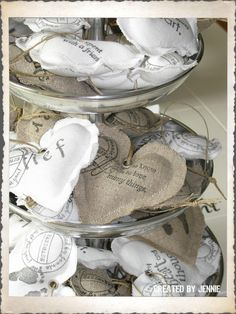 Created by Jennie Vintage Heart, Vintage Shabby Chic, Lavender Bags, Burlap Lace, Annie Sloan Chalk Paint, My Heart, Sweet Home, Valentines, Crafty