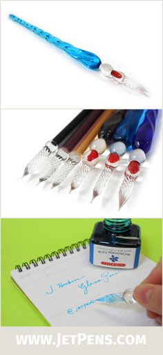 Enjoy hand blown glass pens in the tradition of 16th century Venice. Glass pens are a romantic and beautiful writing instrument that will enhance your writing experience!
