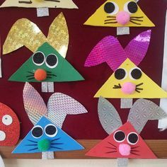 bunny craft idea 2 Crafts and Worksheets for P Spring Crafts For Kids, Christmas Crafts For Kids, Projects For Kids, Art For Kids, Rabbit Crafts, Bunny Crafts, Easter Activities, Craft Activities, Easter Art