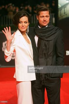 "Actor Brad Pitt and actress Angelina Jolie arrive for the German premiere of ""The Curious Case of Benjamin Button"" at the Sony Center CineStar on January 2009 in Berlin, Germany."