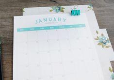 Calendário de 2018 para imprimir