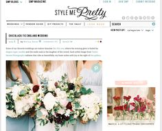 Perfect Day Bride featured on Style Me Pretty thanks to bride Erin's Charlie Brear wedding dress
