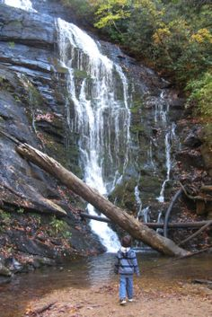 King Creek Falls provides a relaxing hike, photogenic falls, and places to dabble in the water.
