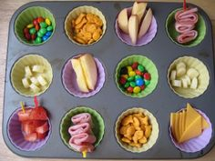 The Muffin Tin Mom creates meals in various types of muffin tins for her kids to eat.  Some follow themes.  Very crafty and fun!  A good way to get kids to try new foods.