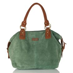 HYDESTYLE Suede and Leather Hobo Slouchy Bag LB0855 Emerald Green