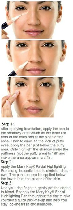Brighten up and look younger instantly with Facial Highlighting Pen!  www.marykay.com/ppahl   $18.00