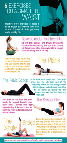 For a smaller waist, practice these core exercises
