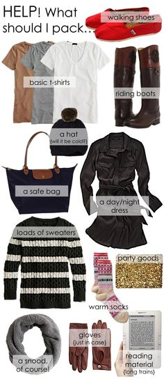 Helpful list of what to pack!