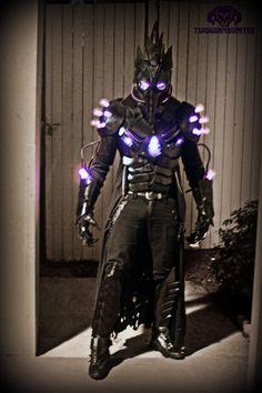 The Black Plague dark futuristic Light up costume by TwoHornsUnited on DeviantArt