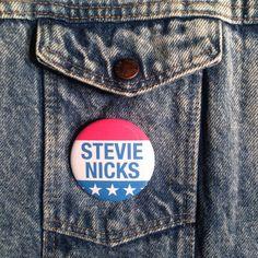STEVIE NICKS For President Pinback Button Pin Badge X1 2.25 Inch Handmade New Fleetwood Mac Classic Rock Music Movement Pinback Buttons