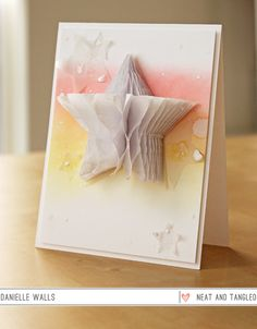 Honeycomb Pop-Up Card by Neat and Tangled using Honeycomb paper pads from We R Memory Keepers