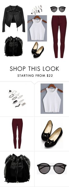 """Untitled #223"" by minna-998 ❤ liked on Polyvore featuring Topshop, Steve Madden, Yves Saint Laurent and Linea Pelle"