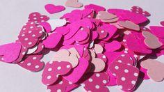 Heart confetti pink confetti  Valentine by SunshineDayCrafts, $3.00