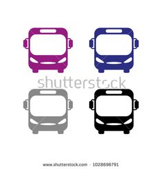 A set of bus icons