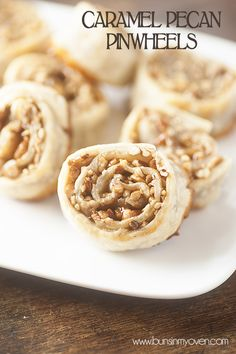 Caramel Pecan Pinwheels #recipe - just three ingredients!