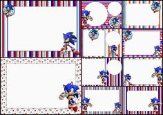 Sonic: Free Printable Invitations.