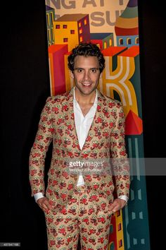 Lebanese-born American singer Mika (Michael Holbrook Penniman Junior) posing for the photocall at Spazio Antologico. Milan (Italy) 10th June 2015