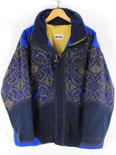 655cabbf01f Vintage Ellesse mens jacket Size M Retro 80s hooded coat ski jacket Billy  Elliot, Vintage
