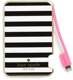 Kate spade new york slim portable charger portable iphone charger, cute por Iphone Charger, Iphone Cases, Portable Iphone, Accessoires Iphone, Iphone Accessories, Claire's Accessories, Electronics Accessories, Electronics Gadgets, Tech Gadgets