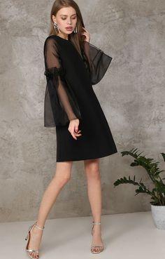 ideas for style black dress formal outfit Cute Dresses, Beautiful Dresses, Short Dresses, Girls Dresses, Formal Dresses, Cute Black Dress, Dress Patterns, Designer Dresses, Dress Skirt
