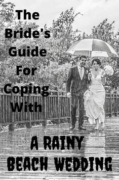 What if it rains on your wedding day and you& getting married on the beach? (Wedding Photography by Fun In The Sun Weddings) Beach Wedding Bouquets, Beach Theme Wedding Invitations, Beach Wedding Centerpieces, Wedding Decorations, Wedding Day Tips, Wedding Advice, Wedding Planning Tips, Wedding Ideas, Rainy Wedding