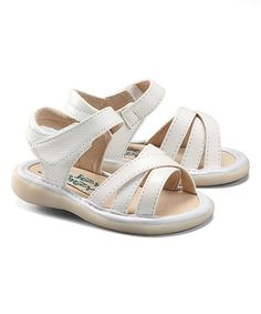 Look what I found on #zulily! White Nicole Squeaker Sandal by Itzy Bitzy #zulilyfinds