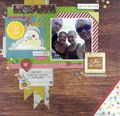 Hello - Scrapbook.com - Made with the Simple Stories Good Day Sunshine collection.