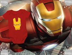 Na BABY BRUTTU você encontra body do Homem Ferro | iron Man, Capitão América, Batman, Robin e outros super-heróis.