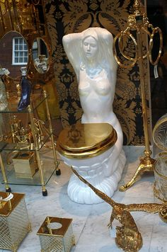 Golden Toilet by Bubble of Interest, via Flickr